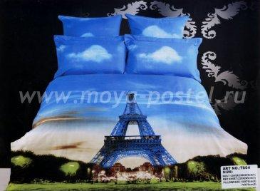 Постельное белье TS04-203, Париж сатин евро 4 наволочки в интернет-магазине Моя постель