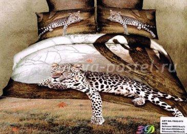 Комплект постельного белья сатин евро 4 наволочки Т19025 в интернет-магазине Моя постель