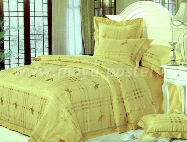 КПБ Жаккард желтый в интернет-магазине Моя постель