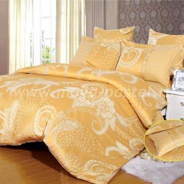 Золотое постельное белье из жаккардового шелка Arlet AB-141-3, евро в интернет-магазине Моя постель