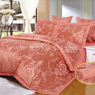 Бордовое постельное белье Arlet AC-132-4 из жаккардового шелка, семейное в интернет-магазине Моя постель