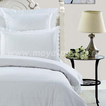 Двуспальное белое постельное белье из перкаля Kingsilk RP-1-2 в интернет-магазине Моя постель