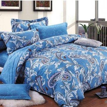 Темно-синее постельное белье из сатина Seda VX-66-1, полутороспальное в интернет-магазине Моя постель