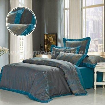 Серое двуспальное постельное белье Kingsilk AH-6-2 из жаккарда в интернет-магазине Моя постель
