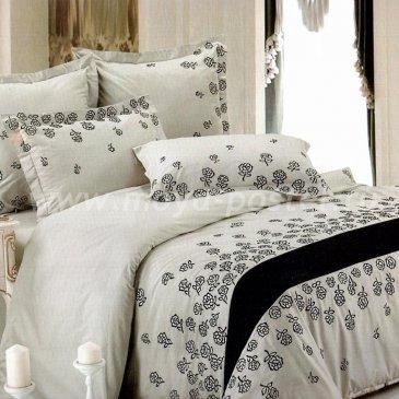 Полутороспальное постельное белье Kingsilk C-2-1 кремового цвета в интернет-магазине Моя постель