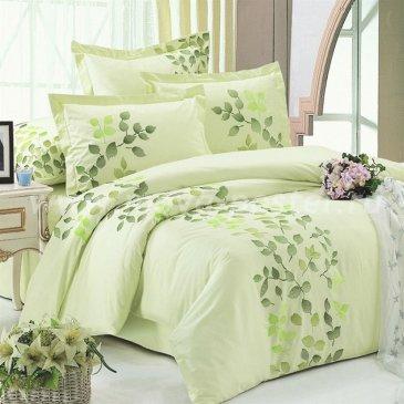 Двуспальное постельное белье из сатина Kingsilk C-3-2 зеленого цвета в интернет-магазине Моя постель