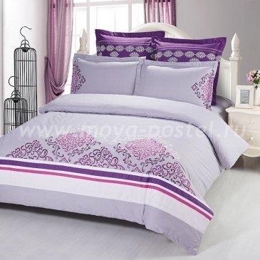 Семейное постельное белье Kingsilk C-57-4 сиреневое с вышивкой в интернет-магазине Моя постель