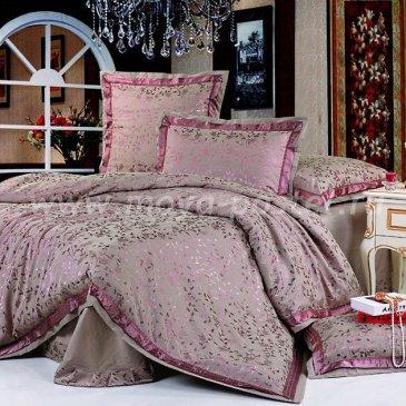 Фиолетовое постельное белье Kingsilk SB-21-1 из жаккарда, полуторное в интернет-магазине Моя постель