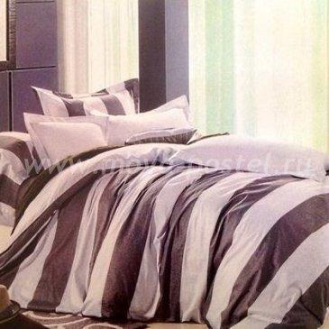 Лиловое постельное белье Seda VX-11-2 в полоску, двуспальное в интернет-магазине Моя постель
