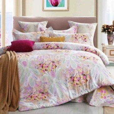 Двуспальное постельное белье Seda VX-64-2 розового цвета в интернет-магазине Моя постель