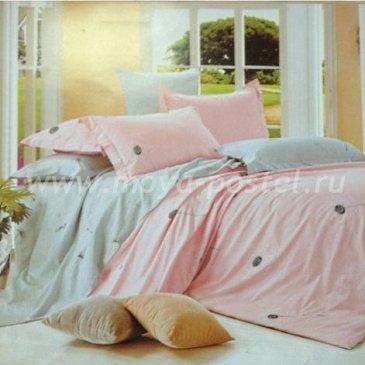 Двуспальное розовое постельное белье Seda VX-65-2 из сатина в интернет-магазине Моя постель