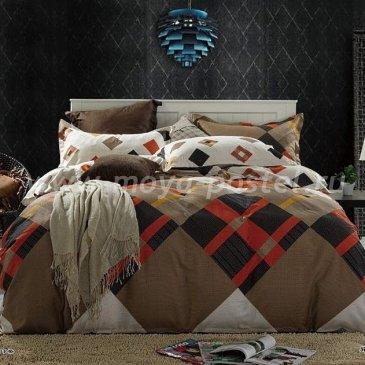 Коричневое постельное белье Seda VX-78-2, двуспальное в интернет-магазине Моя постель