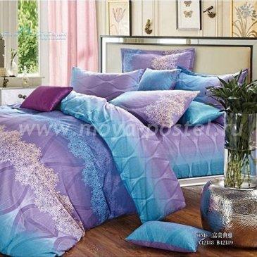 Голубое полуторное постельное белье Seda VX-50-1 в интернет-магазине Моя постель