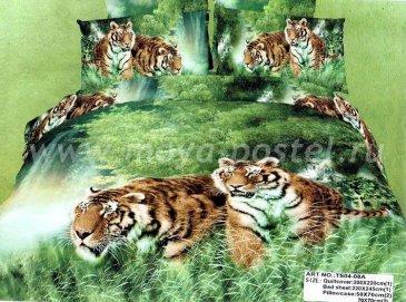 Кпб сатин евро 4 наволочки (тигры в оазисе) в интернет-магазине Моя постель
