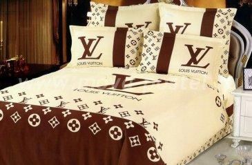 КБП сатин полуторный коричнево-бежевый в интернет-магазине Моя постель