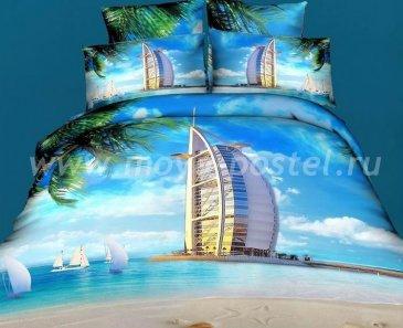 Постельное белье евро стандарта сатин 4 наволочки (Дубаи) в интернет-магазине Моя постель