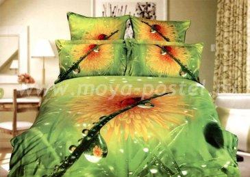 Кпб сатин Евро 2 наволочки (капля росы) в интернет-магазине Моя постель