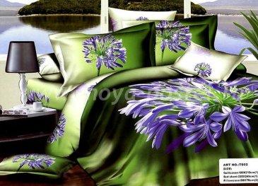 Кпб сатин Евро 2 наволочки (фиолетовые цветы) в интернет-магазине Моя постель