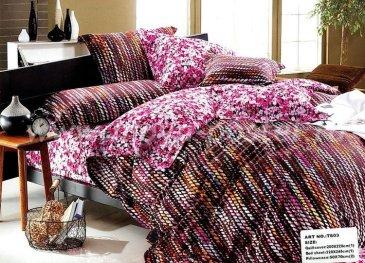 Постельное белье евро размера сатин 2 наволочки (шерстяные нити) в интернет-магазине Моя постель