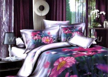 Кпб сатин Евро 2 наволочки (розовые герберы) в интернет-магазине Моя постель