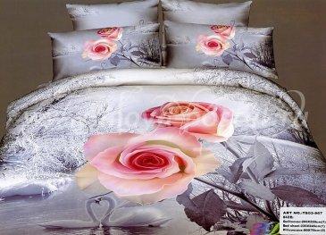 Кпб сатин евро 4 наволочки (нежно-розовые розы) в интернет-магазине Моя постель