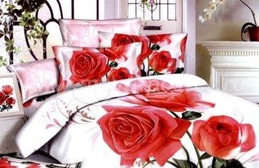 Кпб сатин 1,5 спальный (букет красных роз) в интернет-магазине Моя постель