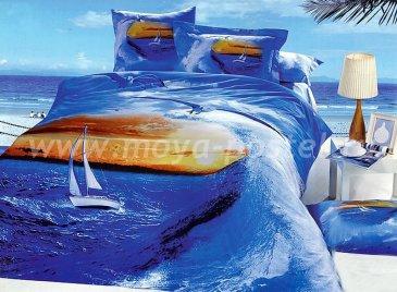 Кпб сатин 2 спальный (парусник в море) в интернет-магазине Моя постель