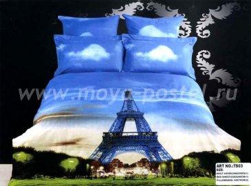 Кпб сатин Евро 2 наволочки (Эйфелева башня), Париж в интернет-магазине Моя постель
