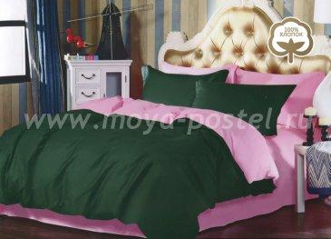 Постельное белье 1014-JT62 Сатин однотонный евро 2 наволочки в интернет-магазине Моя постель