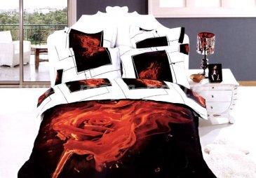 Кпб сатин Евро 2 наволочки (пылающая роза) в интернет-магазине Моя постель