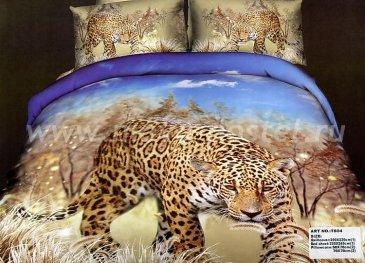 Кпб сатин Евро 2 наволочки (леопард на охоте) в интернет-магазине Моя постель
