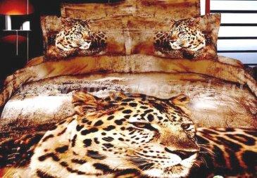 Кпб сатин Евро 2 наволочки (леопард крупным планом) в интернет-магазине Моя постель