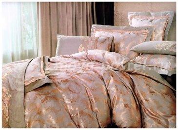 КПБ Жаккард евро 4 наволочки (блестящие перья) в интернет-магазине Моя постель