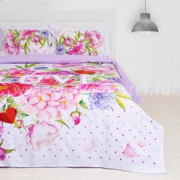 Постельное белье из ранфорса Этель ETR-686-3 Love в интернет-магазине Моя постель