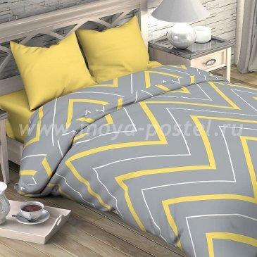 Постельное белье Этель ETP-209-3 Зигзаги желто-серые в интернет-магазине Моя постель