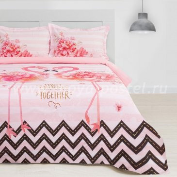Постельное белье Этель ETP-213-1 Розовый фламинго в интернет-магазине Моя постель