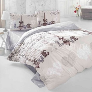 Постельное белье Irina Home IH-24-3 Love Me Kahve в интернет-магазине Моя постель