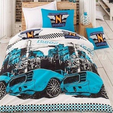 Постельное белье Saba SH-46-1 Тачки синий в интернет-магазине Моя постель