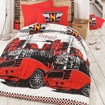 Постельное белье Saba SH-47-1 Тачки красный в интернет-магазине Моя постель