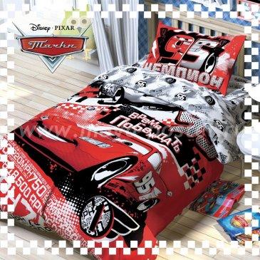 Детское постельное белье Этель Disney ETP-108-1 Тачки Время побеждать в интернет-магазине Моя постель