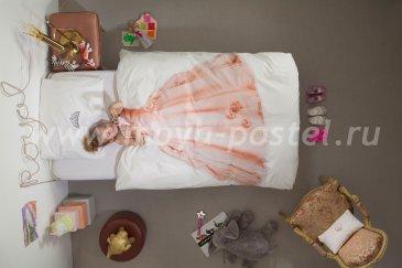 """Постельное белье """"Принцесса"""" розовое, евро в интернет-магазине Моя постель"""