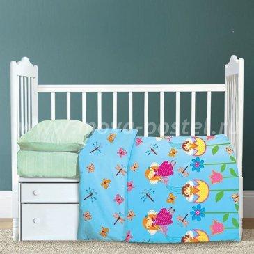 Детское постельное белье Крошка Я KYA-065-b Феечки (с простыней на резинке) в интернет-магазине Моя постель
