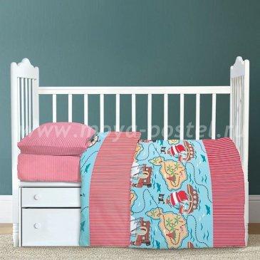 Детское постельное белье Крошка Я KYA-069-b Мореплаватель (с простыней на резинке) в интернет-магазине Моя постель