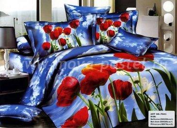 Кпб сатин евро 4 наволочки (поле тюльпанов) в интернет-магазине Моя постель