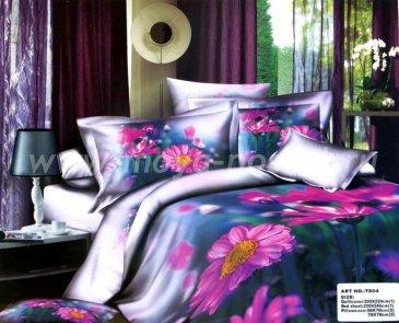 Кпб сатин евро 4 наволочки (розовые герберы) в интернет-магазине Моя постель