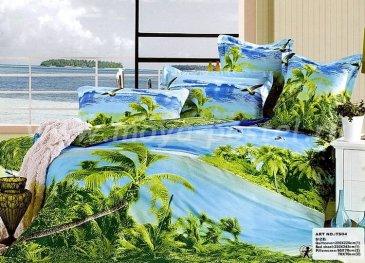 Кпб сатин евро 4 наволочки (тропические острова) в интернет-магазине Моя постель