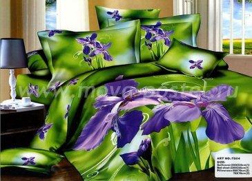Кпб сатин TS04-826 евро 4 наволочки (фиолетовые ирисы) в интернет-магазине Моя постель