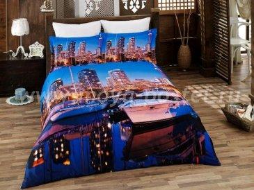 КПБ Bamboo 3D Digital (огни приморского города) в интернет-магазине Моя постель