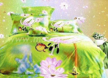 Кпб сатин Евро 2 наволочки (бабочки на ярких цветах) в интернет-магазине Моя постель