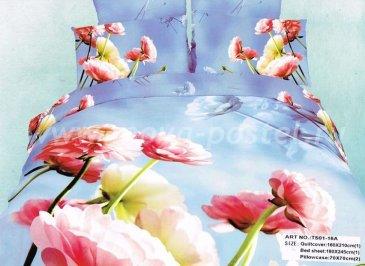 Кпб сатин 1,5 спальный (розовые пионы) в интернет-магазине Моя постель